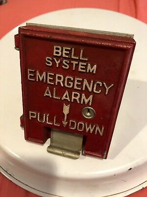 Vintage Bell System Emergency Alarm Pull Down Fire Department