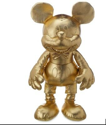 MICKEY MOUSE MEMORIES GOLD PLUSH SMALL 90 YEARS Anniversary Small Size