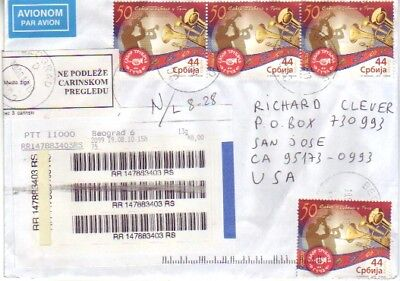 Serbia - Air Mail Covers Worldwide (2no. Air Mail Covers) 2010