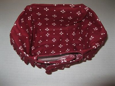 Longaberger ~ Small Key Basket ~ Traditional Red Liner ~ New