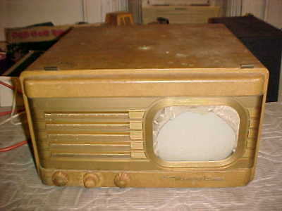 Vintage Motorola Table Top Tube TV Television for parts or repair.