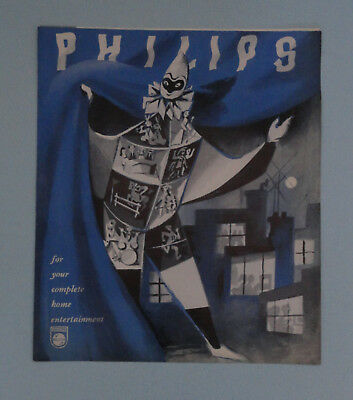 Vtg Philips Sales Brochure Leaflet, Television, Radio, Radiogram, Record Player