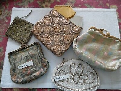 Vintage Purses Lot of 5 Vintage Evening  Clutch Antique