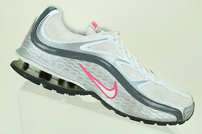 9cc078160 Nike Women's Reax Run 5 White Silver Running Athletic Sneakers Shoes Size  8.5