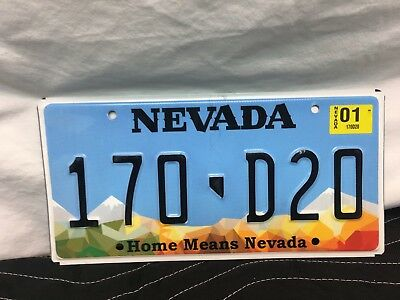 "Nevada License Plate  ""home Means Nevada""   Stamped   170-D20"