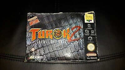 Turok 2 Seeds of Evil - Nintendo 64 - N64 Game - Boxed with Manual