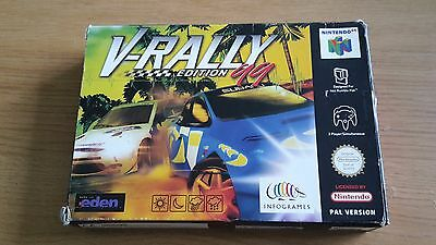V-Rally 99 Edition - Nintendo 64 - N64 Game - Boxed with Manual