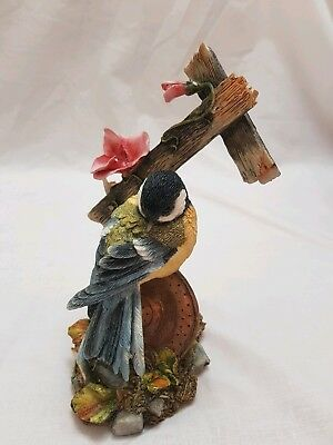 Country Artists Secret Haven Great Tit On Watering Can Figurine