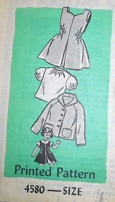 Vintage 1960s ANNE ADAMS GIRLS' JUMPER BLOUSE JACKET Pattern~SIZE 4~#4580 !!