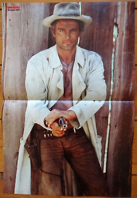 TERENCE HILL - Poster 70er Jahre - ca. 41 x 28 cm / Rückseite TERENCE HILL
