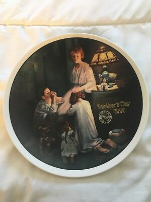 Norman Rockwell Porcelain Plate 1990 Mothers Day Plate# 1767D