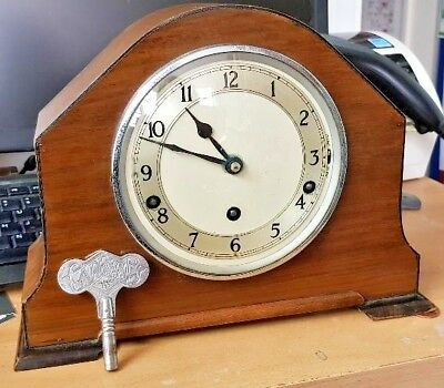 GARRARD Vintage, Mantel Clock, 1931, Working, With Key, Westminster Chimes