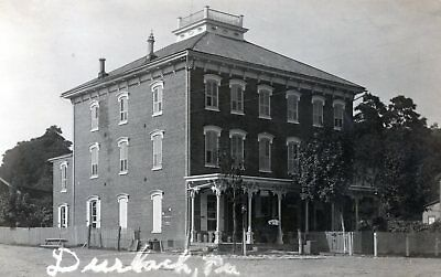 Durlach,Pa.RP View of Post Office in Hotel