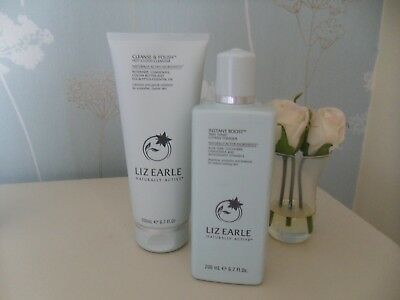 Liz Earle Cleanse Polish 200Ml & Instant Boost Skin Tonic 200Ml Duo New Free Pp