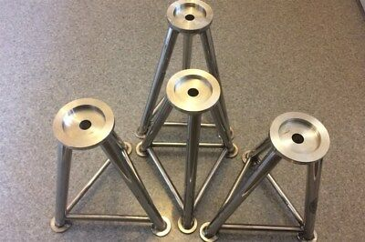 Bespoke Stainless Steel Airjack Stands, Fully TIG welded, Race Rally Motorsport