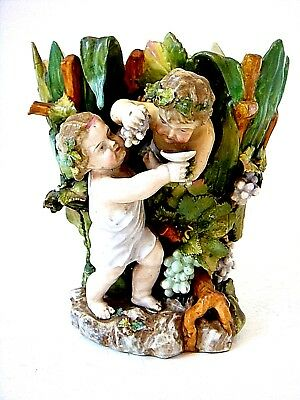 Beautiful Meissen Quality Dresden Figural Spill Vase Bacchus Drinking Wine