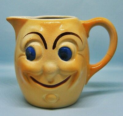 Little Kitsch Vintage Ceramic Milk Cream Jug with Smiley Face - Made in England