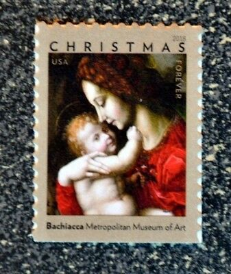 2018USA #5331 Forever Christmas Madonna and Child by Bachiacca - Single  Mint