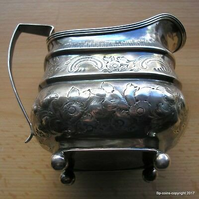 Antique King George Iii Sterling Silver 1812 Cream Jug Antique Condition.