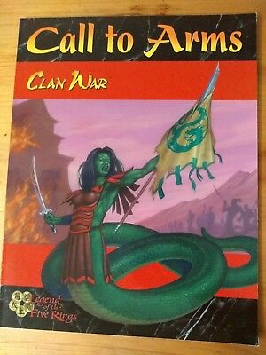 Legend of the Five Rings Clan War Call to Arms, Miniature Combat, RPG, New, AEG