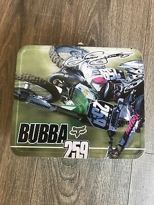 James Bubba Stewart Kawasaki #259 Lunch Box Rare Fox Motocross