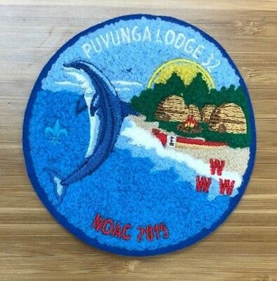 PUVUNGA 32 NOAC 2015 Chenille Blue Border #44 of ONLY 50 Made California