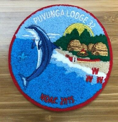 PUVUNGA 32 NOAC 2015 Chenille Red Border #44 of ONLY 50 Made California