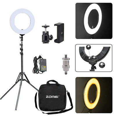 "14"" LED Ring Light 50W 2700k-5500K Dimmable warm white brightness And More US"
