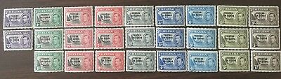 Tristan da Cunha # 1 - 12  Lot collection of short sets (multiples) MNH and MH