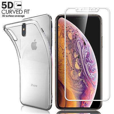 For iPhone Xs Max 2018 3D Curved Tempered Glass Screen Protector Guard Premium