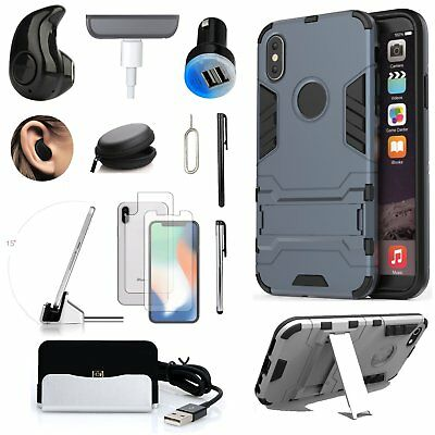 11 in 1 Case Cover Dock Charger Wireless Headset Accessory Bundle For iPhone XR