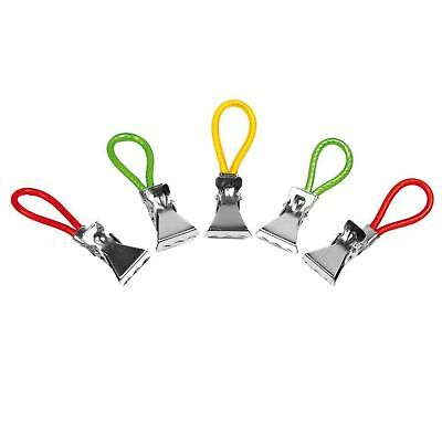 Chef Aid 4 Pack Colourful Towel Clips, Kitchen Storage Loops Tea Towels Gift New