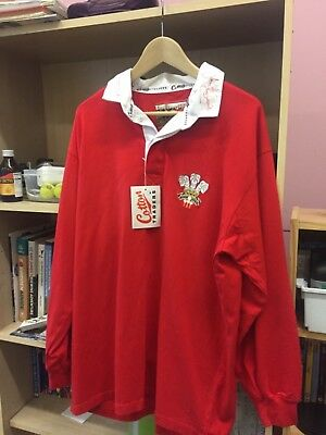 Wales Rugby Shirt Signed By 3 Jonathan Edwards Bill Beumont Rob Howley New Xl