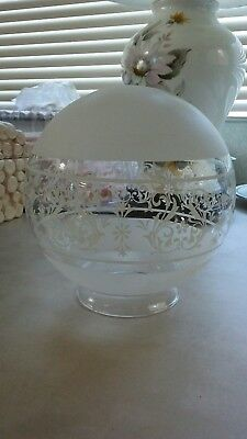 """Vintage Frosted and Clear Glass Light Globe 3 1/8"""" Fitter 6 Available"""