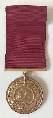 WWII WW2 Good Conduct Medal NAMED 1945 Army Navy Marines Air Slot Brooch RARE!