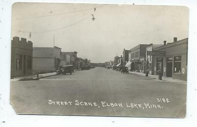 Elbow Lake MN Minnesota RPPC Postcard Main Street