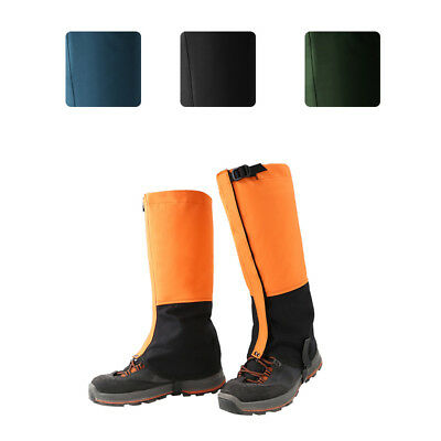 Waterproof  Leg Gaiters Boot Shoe Cover Hiking Climbing Fleece Lining Gaiters