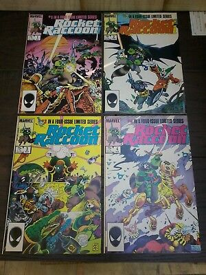 Marvel Rocket Raccoon #1-4 1985 four issue series lot of 4 comic books