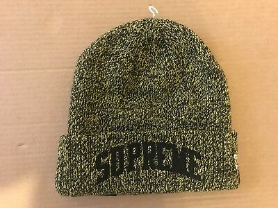 8632d8473a SUPREME NEW ERA Arc Logo Beanie Yellow Authentic FW18 -  80.00 ...