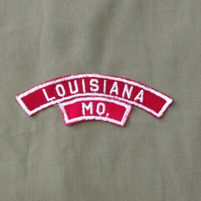 Vintage RWS Louisiana MO Community Strip Patch Pike County Great Rivers Council