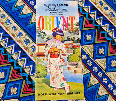1960 Vintage Northwest Orient Airlines Collectible Airline Travel Brochure