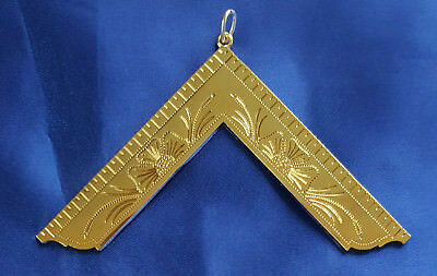 MASONIC COLLAR JEWEL Worshipful Master WM Square Gold Freemason Mason