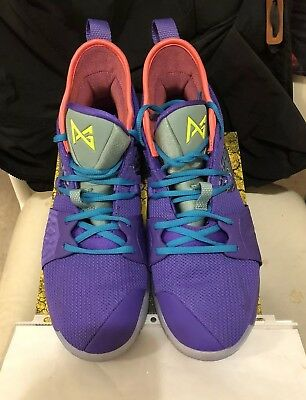 finest selection 160d7 27697 Nike PG 2 Mamba Mentality Cannon Purple Venom Paul George Size 10.5 AO2986  001