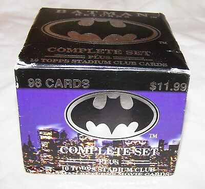 Complete Boxed Set of Batman Returns cards-98 Collectible Movie Cards-1992