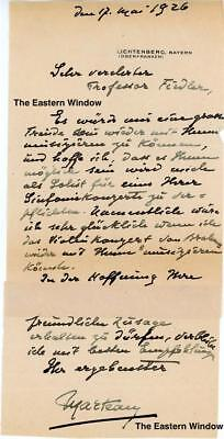 Henri Marteau (1874-1934) French violinist and composer Autograph letter 1926