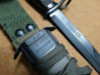 West German M7 Bayonet / Fighting Knife, With Scabbard.