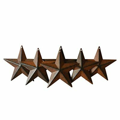 CVHOMEDECO. Country Rustic Antique Vintage Gifts Metal Barn Star Wall/Door Set