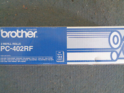 Genuine BROTHER PC-402RF REFILL FAX ROLL TWIN PACK FAX 636 676 645 685 MC 717