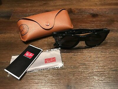 2ef094cba5 New Ray-Ban RB4184 601 71 Highstreet Sunglasess Black Frame With Green B-