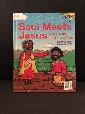 "Hardcover Illustrated ""Saul Meets Jesus and Other Bible Stories"" Rebecca Glaser"
